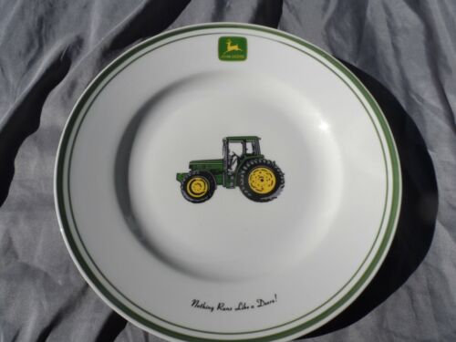 "3 Dinner Plate JOHN DEERE by Gibson  11"" Nothing Runs Like A Deere  Excellent"
