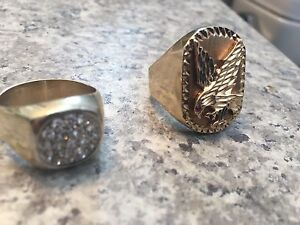Men's gold rings no PayPal