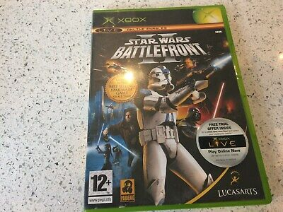 XBOX ORIGINAL GAME - STAR WARS BATTLEFRONT 2 - STARWARS TWO