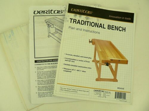 Veritas Woodworking Bench Project Paper Plan Instructions 05L01.02 Detailed