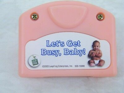 """Leap Frog Little Touch Library Cartridge, """"Let's Get Busy, Baby"""""""