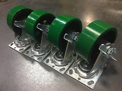 4 X 2 Swivel Polyurethane Caster With Brake Set Of 4 900lbeach - Tool Box