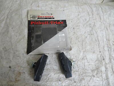 ODYSSEY Pitbull-Triax Vintage Retro Brake Shoes Old School NOS Freestyle Black