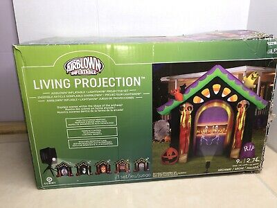 Gemmy 9 ft Halloween Haunted House Living Projection Archway Inflatable