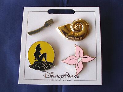 Disney Parks * ARIEL / MERMAID * New 4 Pin Themed Set on Card Trading Pins