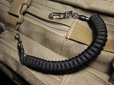 1 Black Paracord Coiled Lanyards,Keys,Tools,Cameras,Flashlights,Maxpedition Gear