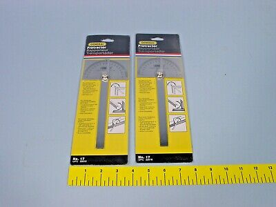 2 General Tools No17 17 Square Head Protractor 0-180 Degree Factory Sealed
