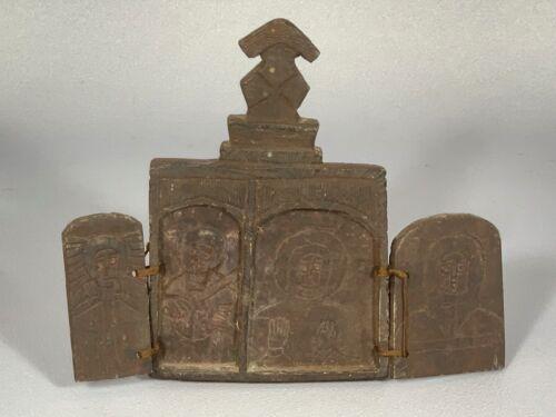 190326 - Ethiopian African coptic double stone icon - Ethiopia.