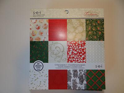 CHRISTMAS 6X6 PAPER PAD TRADITIONAL FOIL SANTA PAPER CRAFTS CARDS](Paper Christmas Crafts)