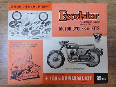 EXCELSIOR Original Motorcycle Sales Brochure 1950s