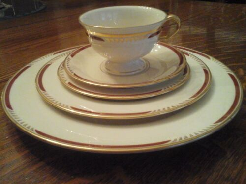 Pickard Malmo -  Rare - Antique - 6 - 5 Piece Place Settings (30 pieces) - MINT