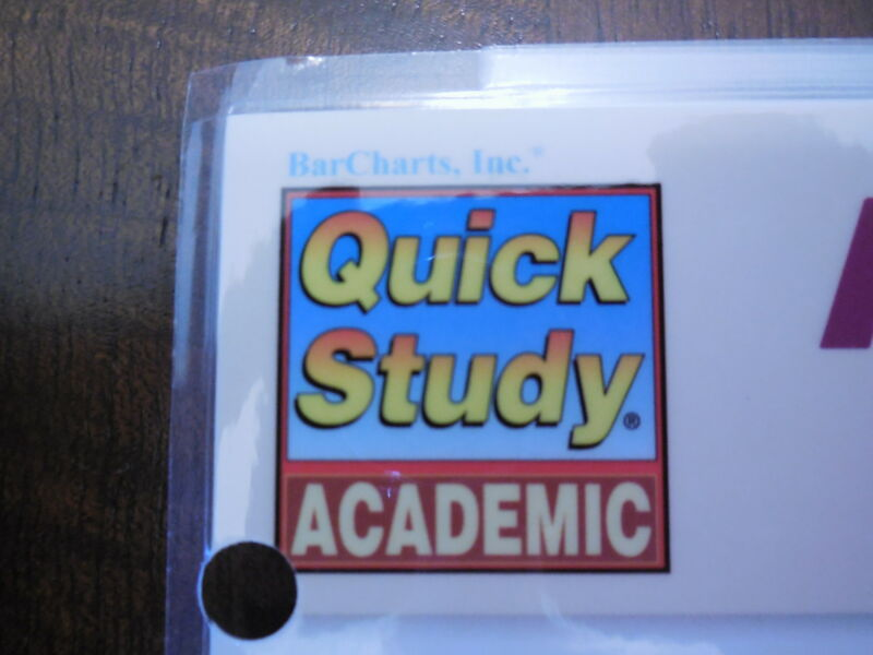 Barcharts Lot Of Any 10 Quick Study Guides In My Store.