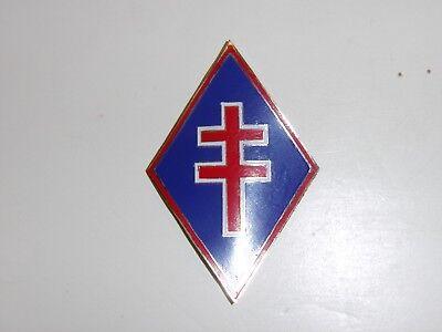 b2390 WW 2 Free French Forces Sleeve emblem worn on Khaki's IR3A117