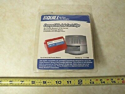 Quill Ink Cartridge Postage Meters For Pitney Bowes E700g700 Series 769-0 Nos