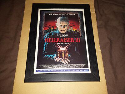 Hellraiser III - Hell on Earth - Framed Original 90's Cinema Advert - Retro Art