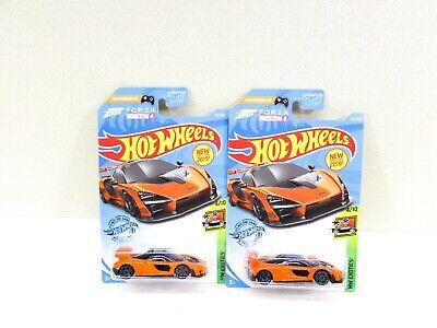 Hot Wheels McLaren Senna Orange Car NIP P Case Exotics Lot of 2 2017 Malaysia
