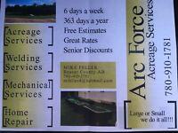 Arc force acreage services