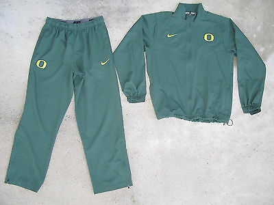 Nike U of Oregon Ducks Dri Fit Track Training Suit Jacket & Pants Sz M