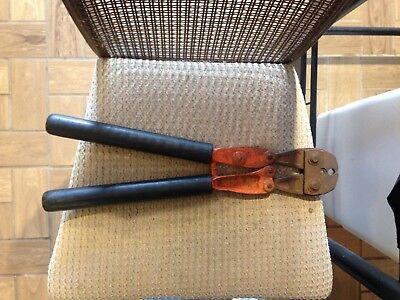 Used Nicopress 51 Orange Manual Crimp Tool - 3 4 Acsr - Insulated Handles