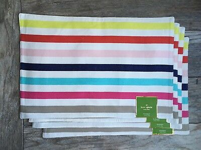 Kate Spade New York Candy Shop Placemats - Set of 4 Colorful Placemats NWT