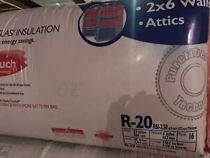 R20 pink insulation for attic; 120sqft coverage