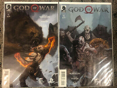 GOD OF WAR #1 & 2 / PLAYSTATION GAME COMIC BOOKS / DARK HORSE comprar usado  Enviando para Brazil