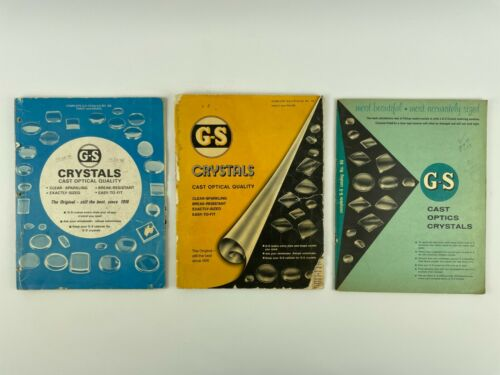 Germanow-Simon Crystal Catalogs Set of (3), Softcover. 238H