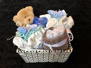 Baby gifts basket baby shower gift basket New born gifts Unisex