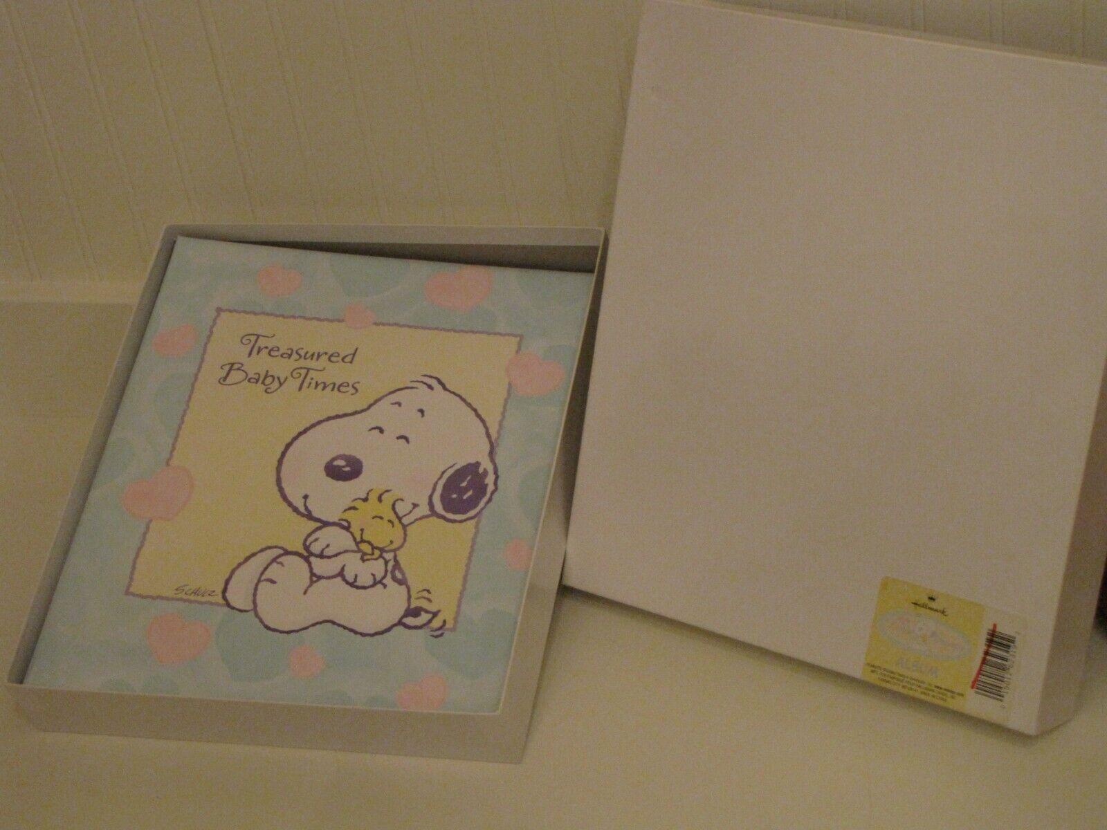 NEW HALLMARK BABY SNOOPY 3 RING MEMORY KEEPSAKE BOOK TREASURED BABY TIMES  - $23.95