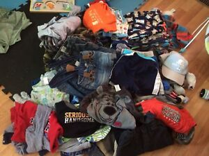 75 and counting baby boy 6-12 clothing lot