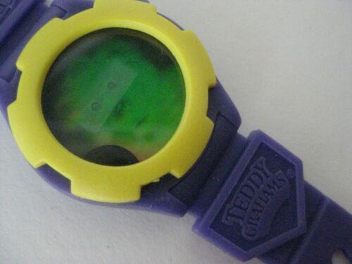Teddy Grahams Hologram Wristwatch New never used Watch Purple Yellow Bear