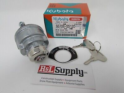 1 New Genuine Kubota Ignition Key Switch W Keys Part 66706-55120