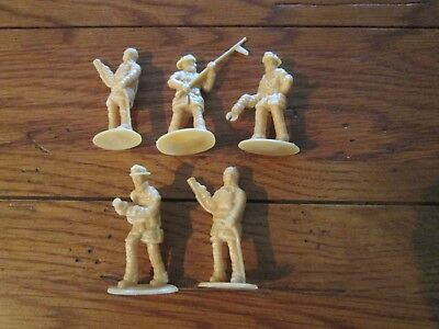 LOT OF 5 Plastic Toy Model Firemen 2
