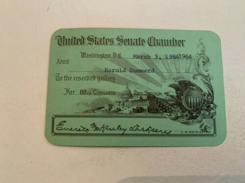 1964 United States Senate Chamber Pass