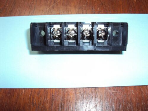 4-Position  chassis Mount Single Row Barrier Terminal Block  11.125 mm pitch nos