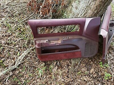 91 -  93 Chevy Caprice Classic Burgundy Front  Door  Panels  interior