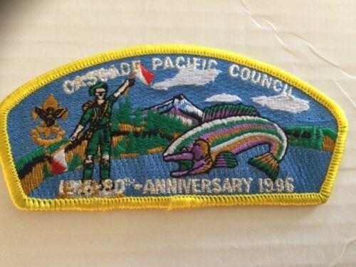 Cascade Pacific Council CSP SA-14 Yellow Border 80th Anniversary 1996 SALE!!