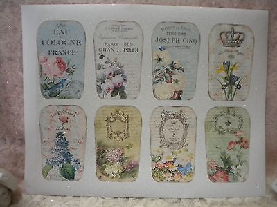 Vintage French Perfume   Cologne Labels For Scrap Booking Or Bottles  8