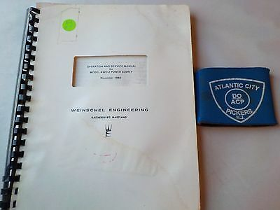 Weinschel Model 4320-2 Power Supply Operation And Service Manual