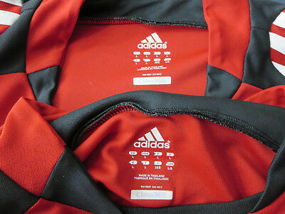 dbe9734099693f adidas mens red black white ESP Elite Soccer goalie jersey lot L EUC (2)