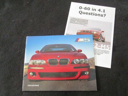 2000 BMW M5 E39 US Brochure E 39 M 5 Prestige 1st Year Sales Catalog thick pages