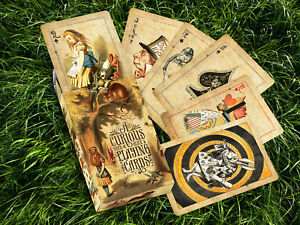 Alice-in-Wonderland-039-Curious-039-Playing-Cards-Vintage-Victoriana-Style