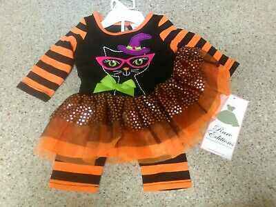 NEW Baby Girl 0 - 3 Months 2 Piece Halloween Outfit Boutique Adorable Tutu  - Baby Halloween Outfit 0 3 Months