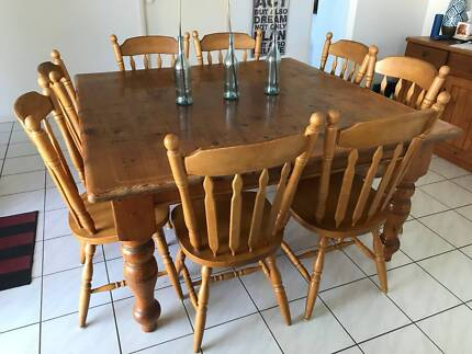 Large Square Dining Table - 8 Seater