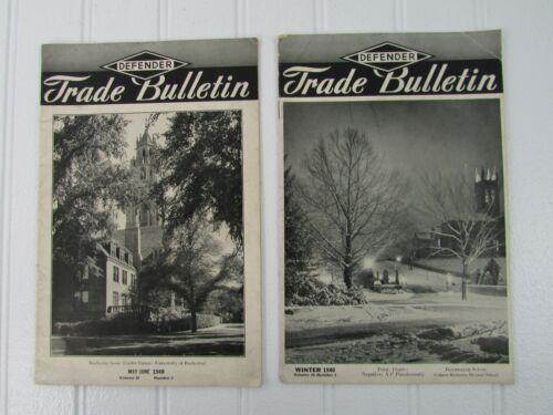 Defender Trade Bulletins Photography Magazines (2) 1940