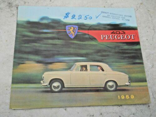 1959 403 PEUGEOT Sales Brochure Original