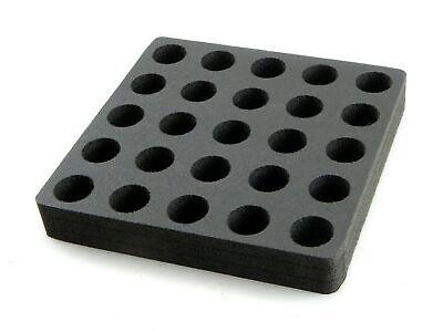 Vial Organizer Storage Rack Foam Stand 24mm Diameter Holder 25 Hole