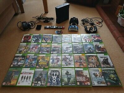 Xbox 360 Slim 250GB Bundle (Games, controllers and more!) NO RESERVE