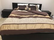 King Size Bed Setting Including Luxury Gold Latex Mattress Viewbank Banyule Area Preview