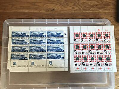 Israel 1966 Stamp Sheets UMM (bb526)